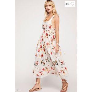 Free People Floral Bird Maxi Dress